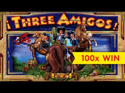 Three Amigos Slot – BIG WIN, GREAT BONUS!