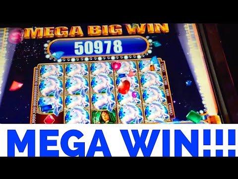 Mystical Unicorn Slot- Huge Mega Win with re-trigger!