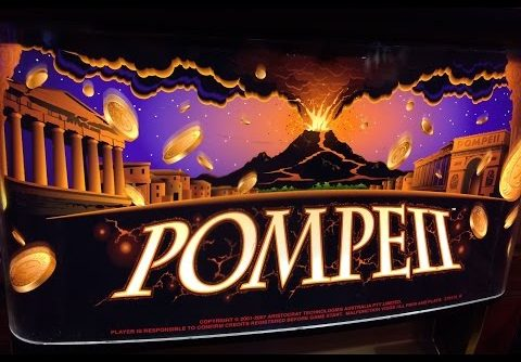 Pompeii Slot Machine Two Bonuses – 5 Symbol Trigger – Big Win – TBT