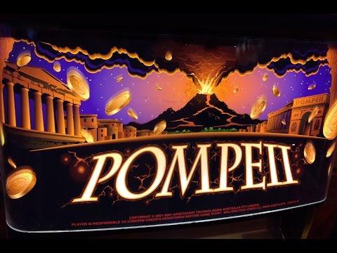 Pompeii Slot Machine Two Bonuses – 5 Symbol Trigger – Big Win – TBT