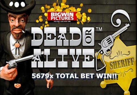 Dead Or Alive Slot – 5679x HUGE WIN!