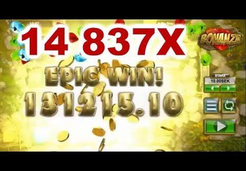 TOP 5 BIGGEST WIN ON BONANZA SLOT – BEST RECORD WIN 14 837X !!!!!