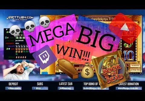 Big Bet!! Book Of Dead Slot Gives Mega Big Win!!