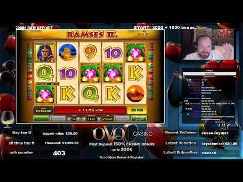 Big Bet! Mega Big Win From Ramses 2 Slot!!