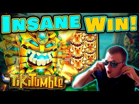 INSANE RECORD WIN on TIKI TUMBLE Slot!!