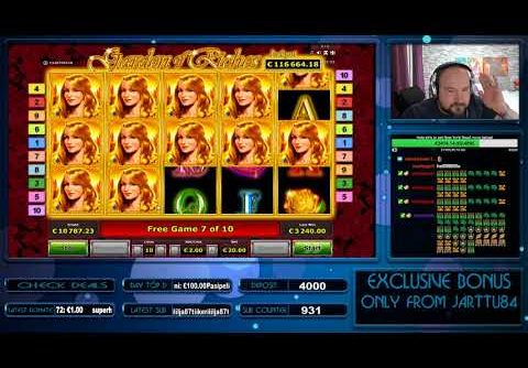 Big Bet!! Garden Of Riches Slot Gives Mega Big Win!!