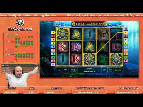 Mega Big Win From Lord Of The Ocean Slot!!