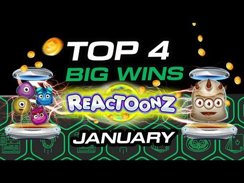 TOP 4 big wins on ReactoonZ online slot by Play'n GO January