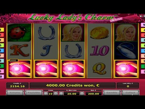 Lucky Lady's Charm slot! Bonus game with 4 scattere.  My record win  €22.000