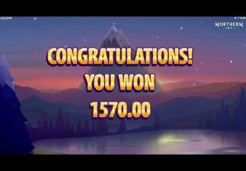 Mega Win Freespins on Northern Sky Slot!