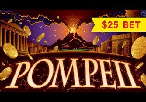 Wonder 4 Pompeii Slot – $25 Max Bet – BIG WIN BONUS!