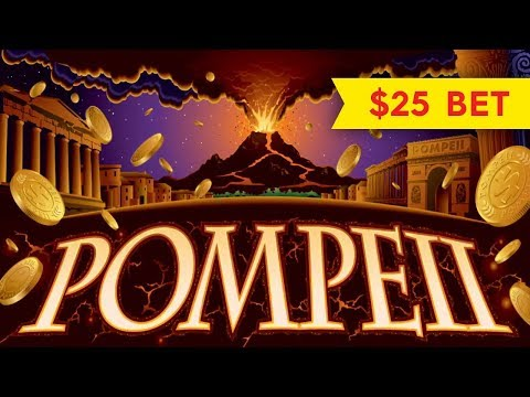 Wonder 4 Pompeii Slot – $25 Max Bet – BIG WIN BONUS!