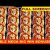 *~FULL SCREEN~* Double MEGA Big Win Bonuses!!!! King of Africa Slot Machine