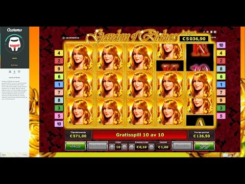 SUPER BIG WIN – Garden of Riches, good trigger and good free spins!