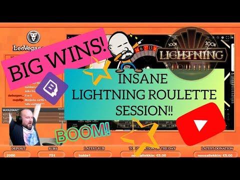 BIG WINS!! INSANE LIGHTNING ROULETTE SESSION!!