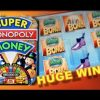 SUPER MONOPOLY – PART 1 of 3 | WMS – HUGE Win! Slot Machine Bonus (Hot Days Theme)