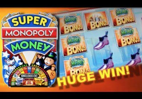 SUPER MONOPOLY – PART 1 of 3 | WMS – HUGE Win! Slot Machine Bonus (Hot Days Theme)