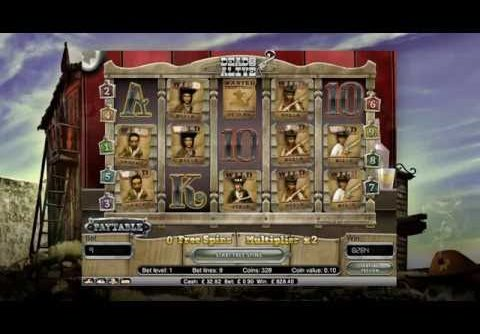Dead or Alive Slot *** HUGE MEGA WIN *** 90p Stake !!