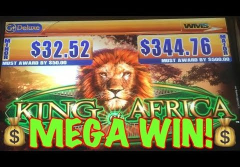 King of Africa Slot Machine LIVE Mega Big Win Bonus! $ 🦁💎💰🔥
