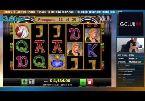 RECORD WIN Online Slot – MAGIC MIRROR Big Win and bonus round