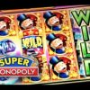 SUPER MONOPOLY – PART 3 of 3 | JACKPOT! BIG WIN! Slot Machine Bonus (WMS)