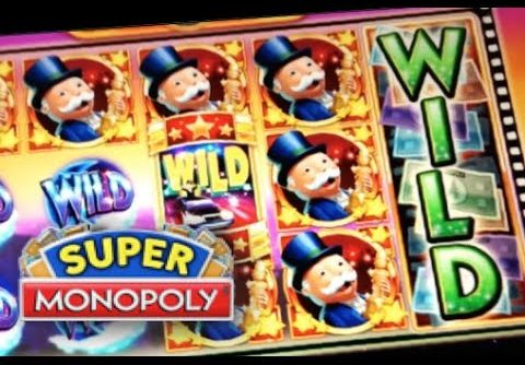SUPER MONOPOLY – PART 3 of 3 | JACKPOT! BIG WIN! Slot Machine Bonus (WMS)