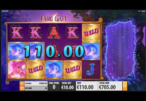 MEGA WIN On Fairy Gate Slot Machine From Quickspin