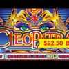 Cleopatra Slot – HIGH LIMIT $22.50 Max Bet BIG WIN Bonus!