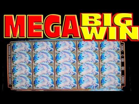 Mystical Unicorn FULL SCREEN MEGA BIG WIN Las Vegas Slot Machine Winner