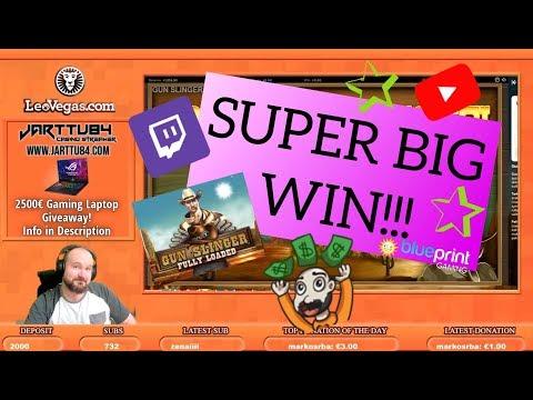 Super Big Win From Gun Slinger Fully Loaded Slot!!