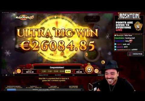Roshtein Record Win €129.000 Mahjong 88 Slot | 129k Mega Win – Ultra Big Win