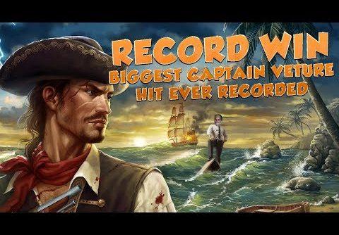 BIG WIN!!!! Captain Venture – RECORD WIN – Casino Games – bonus round (Casino Slots)