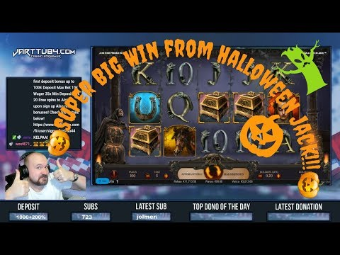 Big Bet! Back To Back Bonuses! Super Big Win From Halloween Jack!