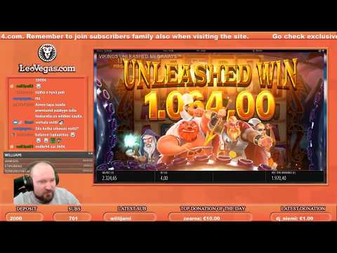 Super Big Win From Vikings Unleashed MegaWays!!