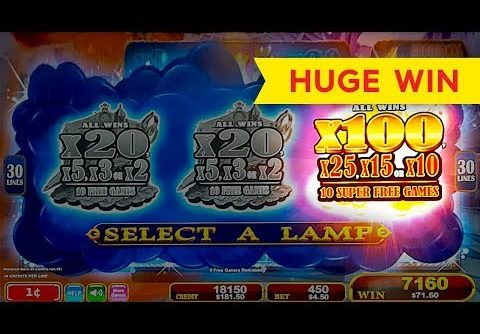 HUGE WIN! Lamp Of Destiny Slot – FINALLY, SUPER FREE GAMES, YES!