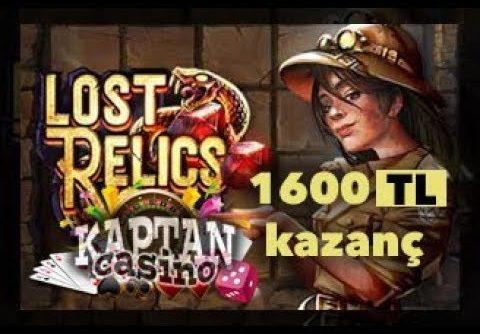 Netent Lost Relics SUPER MEGA WİN (Slot oyunları serisi )