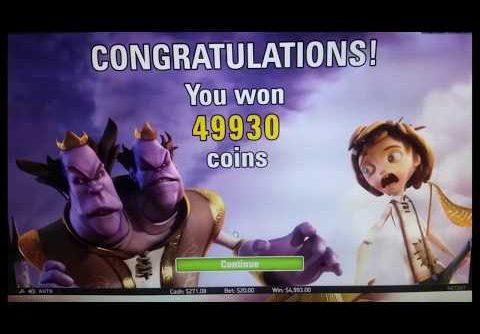 Jack and the Beanstalk Slot SUPER MEGA WIN!!! 5.3K!!!