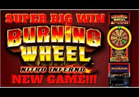 SUPER BIG WIN on BURNING WHEEL NITRO INFERNO SLOT POKIE by Aruze Gaming  PECHANGA CASINO