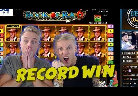 RECORD WIN 6 euro bet BIG WIN – Book of Ra 6 HUGE WIN Drunkstream epic reactions
