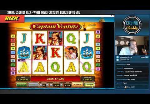 BIG WIN!!!! Captain Venture   Casino   Bonus round Casino Slots From Live Stream
