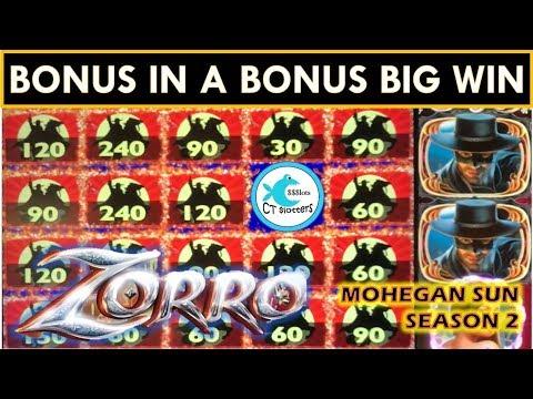 LOVE THE BONUS IN A BONUS BIG WINS! ZORRO MIGHTY CASH SLOT MACHINE