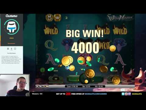 SUPER MEGA WIN on The Wish Master Slot – £2 Bet