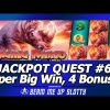 Jackpot Quest #6 – Raging Rhino slot, Max Bet Super Big Win with 3 Bonuses and Life of Luxury