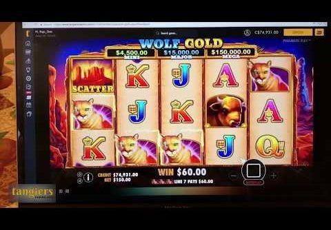 Big WIN On Tangiers Casino Wolf Gold BoomWin JACKPOT