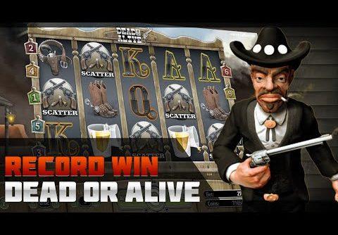 DEAD OR ALIVE SLOT – RECORD WIN £41,233. TOP 5 MASSIVE WIN. CASINO ONLINE