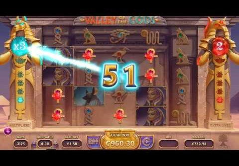 €1182 Mega Buy Valley of the Gods Slot!