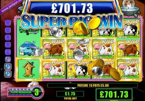 £795.20 MEGA BIG WIN ON INVADERS FROM THE PLANET MOULAH™ ONLINE SLOT AT JACKPOT PARTY®