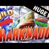 HUGE WIN *NEW SLOT* SHARKNADO Slot Machine Amazing Bonus w/Retriggers!