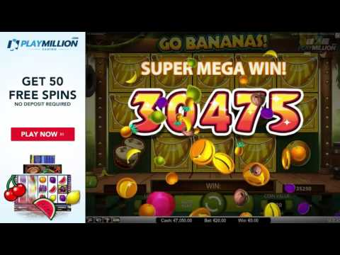 SUPER MEGA WIN Playing Go Bananas! Slot!