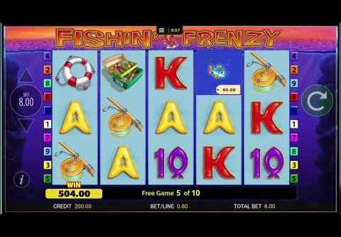 Bookies Fishing Frenzy Slot Machine Huge Catches Mega Win £8 Spins